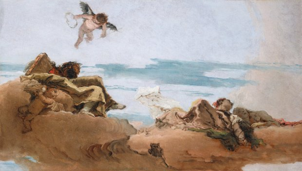 Depicting of winged beings on a beach by Tiepolo c 1762